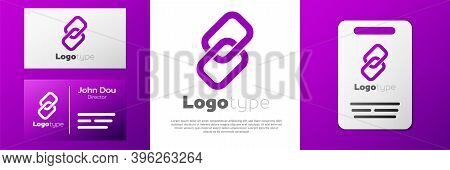 Logotype Chain Link Icon Isolated On White Background. Link Single. Hyperlink Chain Symbol. Logo Des