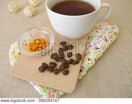 A Cup Of Coffee Chai With Curcuma