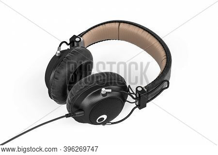Professional Studio Headphones Isolated On White Background - 3d Render