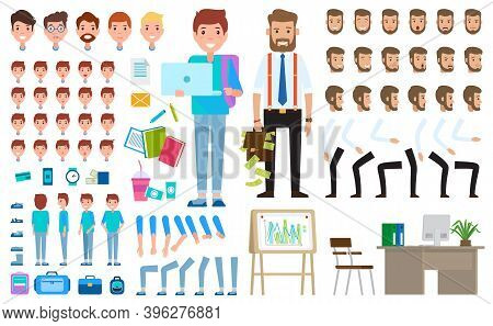 Parts Of Bodies, Table, Board, Student S Items, Education Tools, Clothing, Hands, Legs, Types Of Fac