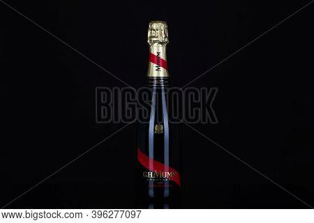 Prague,czech Republic - 24 November,2020: G.h.mumm Champagne. G. H. Mumm & Cie, Situated In Reims In