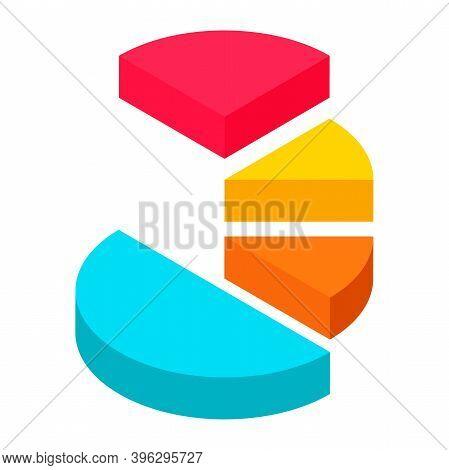 Dimension Isometric Retro Puzzle Circle Business Info Graphic Presentation