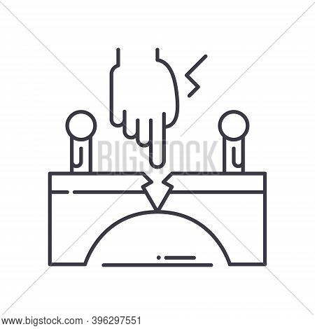 Family Intervention Icon, Linear Isolated Illustration, Thin Line Vector, Web Design Sign, Outline C