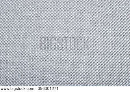 Metal Texture - Top View And Close-up Of A Fragment Of A Perforated Aluminum Sheet