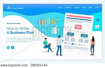 Business Plan How To Write, List With Tasks, Missions, Targets, Businesspeople Learning To Make Busi