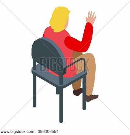 Auction Woman Icon. Isometric Of Auction Woman Vector Icon For Web Design Isolated On White Backgrou