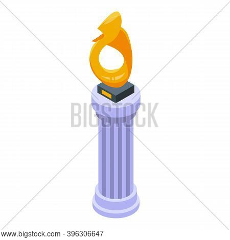 Auction Gold Cup Icon. Isometric Of Auction Gold Cup Vector Icon For Web Design Isolated On White Ba