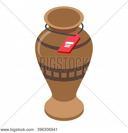 Ancient Vase Auction Icon. Isometric Of Ancient Vase Auction Vector Icon For Web Design Isolated On