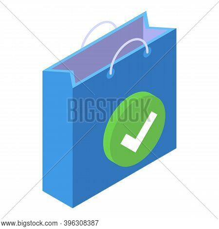 Shop Bag Mobile Payment Icon. Isometric Of Shop Bag Mobile Payment Vector Icon For Web Design Isolat