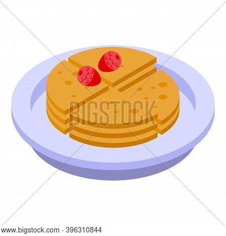 Healthy Breakfast Cracker Icon. Isometric Of Healthy Breakfast Cracker Vector Icon For Web Design Is