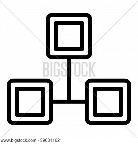 Acquaintance Scheme Icon. Outline Acquaintance Scheme Vector Icon For Web Design Isolated On White B