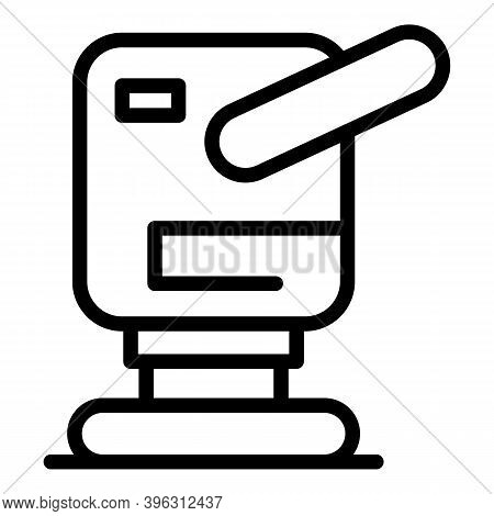 Belt Grinding Machine Icon. Outline Belt Grinding Machine Vector Icon For Web Design Isolated On Whi