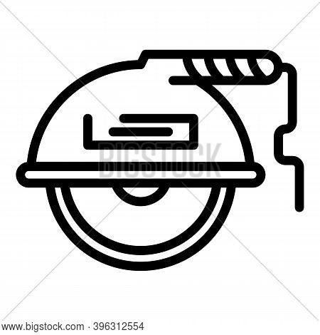 Floor Grinding Machine Icon. Outline Floor Grinding Machine Vector Icon For Web Design Isolated On W