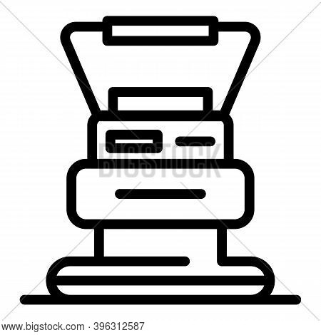 Handle Grinding Machine Icon. Outline Handle Grinding Machine Vector Icon For Web Design Isolated On