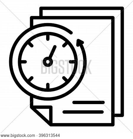 Mail Fast Time Report Icon. Outline Mail Fast Time Report Vector Icon For Web Design Isolated On Whi