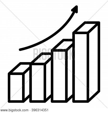 Grow Up Graph Report Icon. Outline Grow Up Graph Report Vector Icon For Web Design Isolated On White