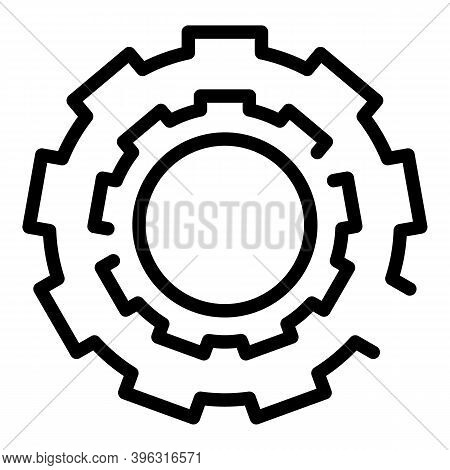 Bicycle Repair Cassette Icon. Outline Bicycle Repair Cassette Vector Icon For Web Design Isolated On
