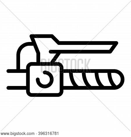 Bicycle Repair Brake Lever Icon. Outline Bicycle Repair Brake Lever Vector Icon For Web Design Isola