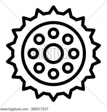 Bicycle Repair Gear Piece Icon. Outline Bicycle Repair Gear Piece Vector Icon For Web Design Isolate