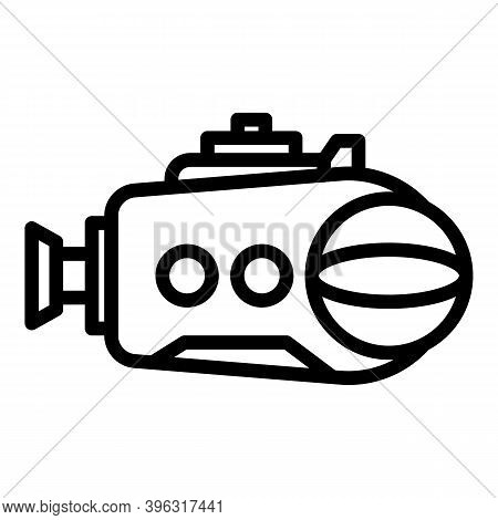 Defence Bathyscaphe Icon. Outline Defence Bathyscaphe Vector Icon For Web Design Isolated On White B