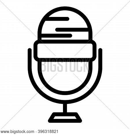 Reportage Studio Microphone Icon. Outline Reportage Studio Microphone Vector Icon For Web Design Iso