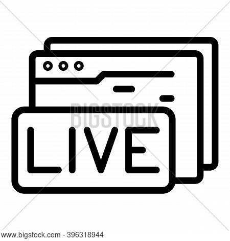 Live Web Page Reportage Icon. Outline Live Web Page Reportage Vector Icon For Web Design Isolated On