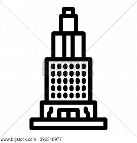 Tv Reportage Tower Icon. Outline Tv Reportage Tower Vector Icon For Web Design Isolated On White Bac
