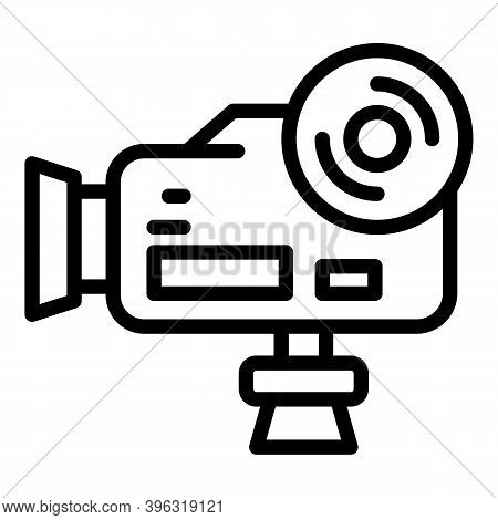 Handle Reportage Camera Icon. Outline Handle Reportage Camera Vector Icon For Web Design Isolated On