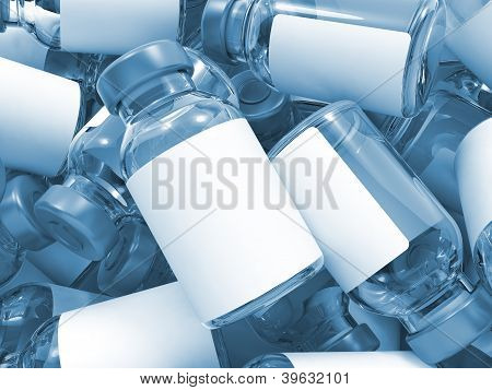 Heap of Medical Ampoules.