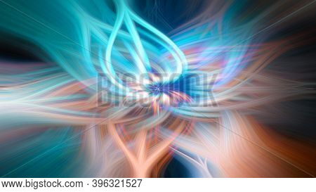 Multicolored Abstract Background - Twirl Fibers Colorized Wallpaper