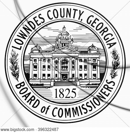 3d Seal Of Lowndes County (georgia), Usa. 3d Illustration.