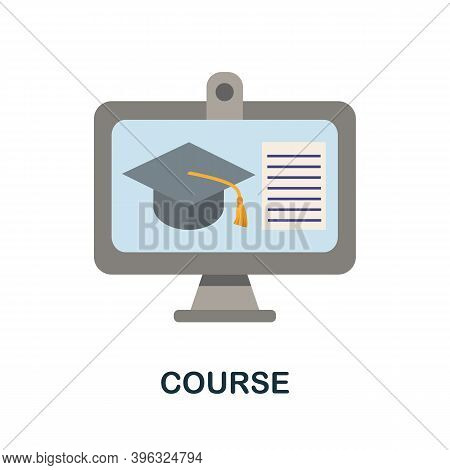 Course Icon. Simple Element From Online Education Collection. Creative Course Icon For Web Design, T