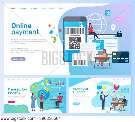 Online Payment, Transaction Security, Technical Support, Landing Page Of Business Website, Online Ba