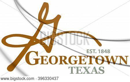3d Emblem Of Georgetown (texas), Usa. 3d Illustration.