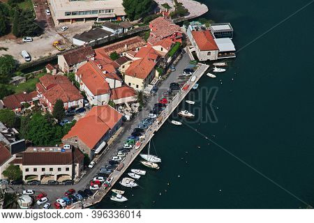 Kotor, Montenegro - 06 May 2018: The Panoramic View Of Ancient City Kotor On The Adriatic Coast, Mon