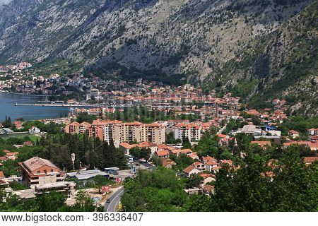 Kotor, Montenegro - 05 May 2018: The View On Ancient City Kotor On The Adriatic Coast, Montenegro