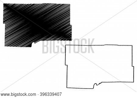 Maries County, Missouri (u.s. County, United States Of America, Usa, U.s., Us) Map Vector Illustrati
