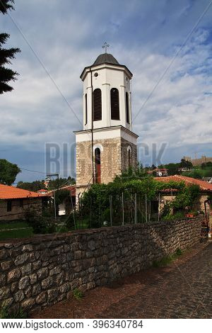 Orchid, Macedonia - 10 May 2018: The Vintage Church In Orchid City, Macedonia