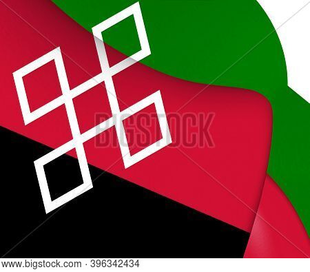3d Flag Of Rucphen (north Brabant), Netherlands. 3d Illustration.