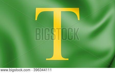 3d Flag Of Sint Anthonis (north Brabant), Netherlands. 3d Illustration.