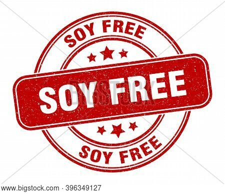Soy Free Stamp. Soy Free Label. Round Grunge Sign