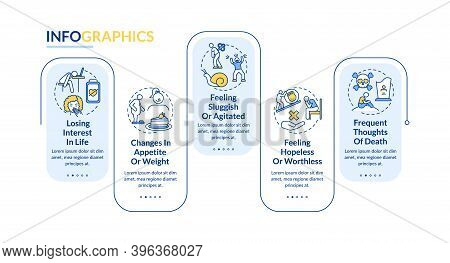 Winter Blues Symptoms Vector Infographic Template. Apathy, Feeling Hopeless Presentation Design Elem