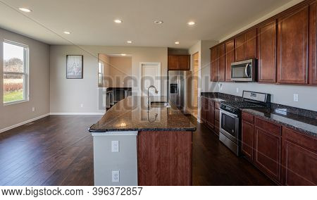 New Kitchen Cabinets Have Been Installed And Kitchen Has Been Remodeled