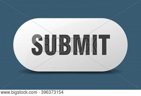 Submit Button. Sticker. Banner. Rounded Glass Sign