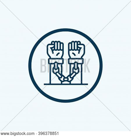 Handcuff Icon Isolated On White Background From Law And Justice Collection. Handcuff Icon Trendy And