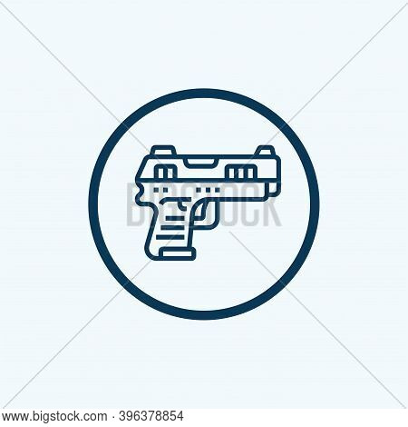 Handgun Icon Isolated On White Background From Crime Collection. Handgun Icon Trendy And Modern Hand