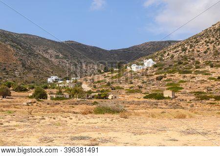 Beautiful Valley Seen From Agia Theodoti Beach On Ios Island.cyclades, Greece