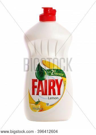 Bucharest, Romania - November 19, 2014. Bottle Of Lemon Fairy Washing Up Liquid, Produced By Procter