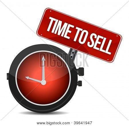 Time To Sell Concept