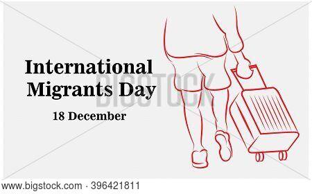 International Migrants Day Global Migration Concept Illustration 18 December